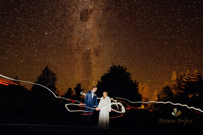 star and astro wedding photography in Ohakune with Rachel