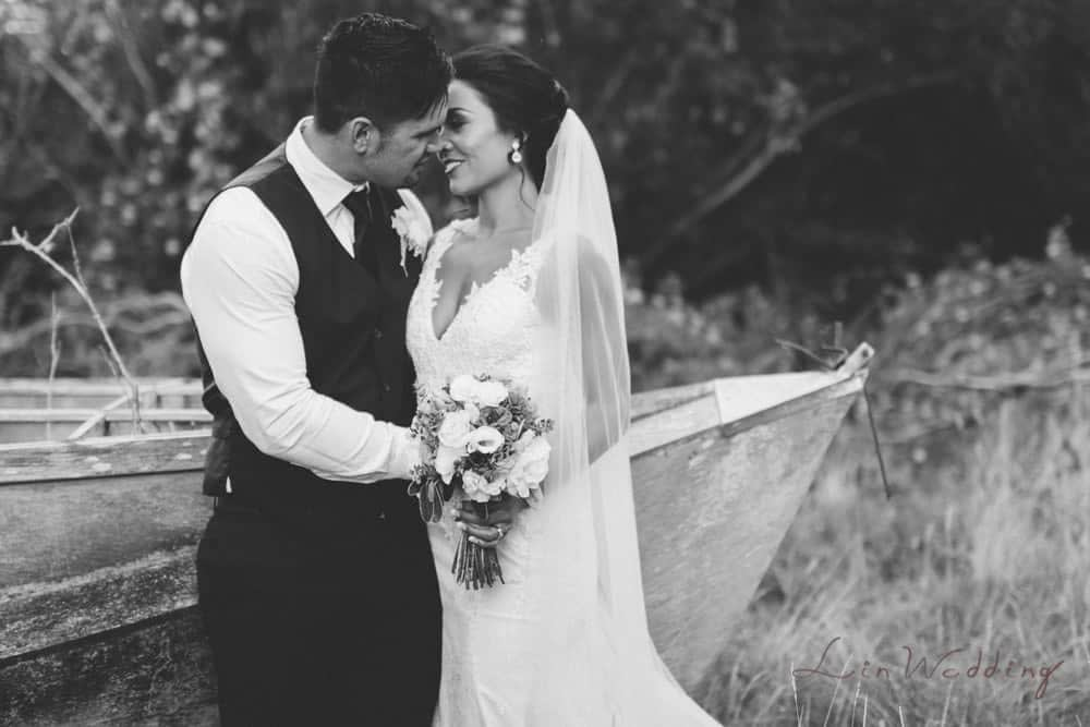 Bride and groom bridal portrait by Palmerston North wedding photographer Lin Zhao