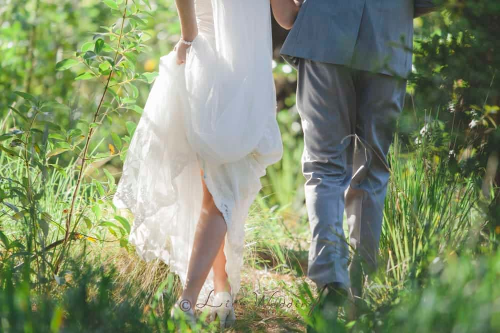 A walk in the park with bride and groom on a beautiful Palmerston North wedding day